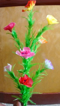 CANE TO BOUQUET - MULTICOLORED SILK FLOWERS - UMSI PRO VERSION