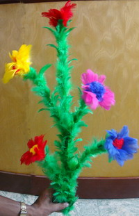 CANE TO BOUQUET - MULTICOLORED FEATHER FLOWERS - UMSI PRO VERSION