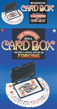 LOCKING CARD BOX & BOOK OF 25 TRICKS