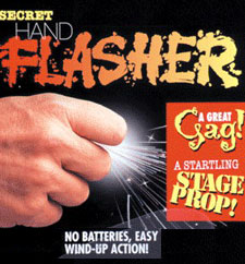 SECRET SPARKING HAND FLASHER - FUNKENRING