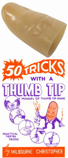 MAGICIAN'S THUMB TIP WITH BOOK