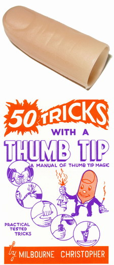TEEN'S SIZE MAGICIAN'S THUMB TIP WITH 50 TRICKS BOOK